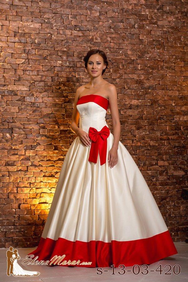 Платья бело красные свадебные