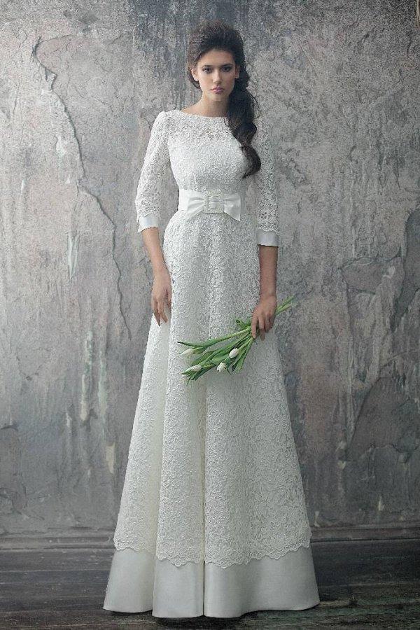 Свадебные платья с рукавом не пышные