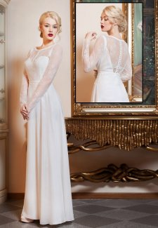 Iren long sleeve wedding
