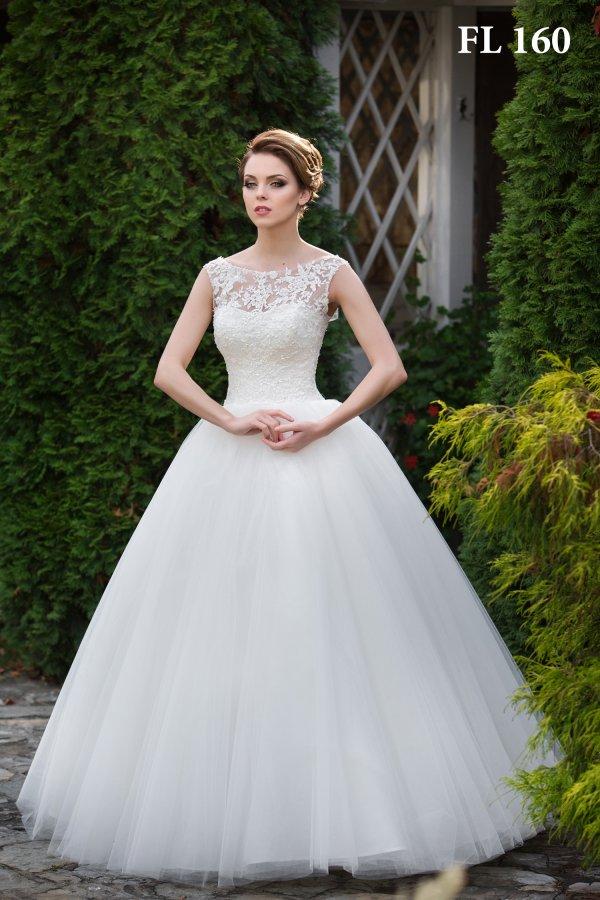 Свадебные платья пышные с закрытым верхом