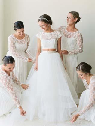 Crop top свадебные платья